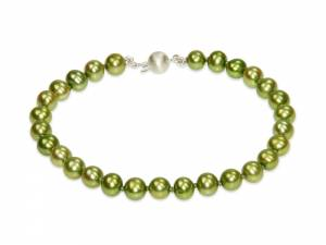 Jade - Apple Green Pearl Bracelet-0