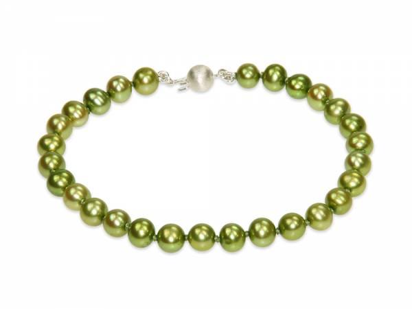Jade - Apple Green Pearl Bracelet-0