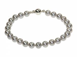 Silver Moon - Silver Pearl Bracelet-0