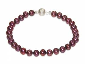 Charlotte - Cranberry Red Pearl Bracelet-0