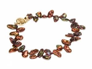 Dee Dee - Chocolate Keshi Pearl Bracelet-0