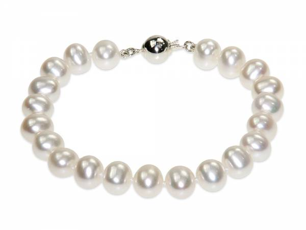 Catherine - Classic White Pearl Bracelet-0