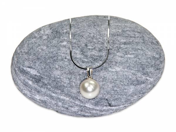Solitaire - White Pearl Pendant (10 mm)-0