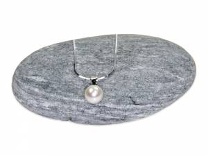 Solitaire - White Pearl Pendant (8 mm)-0