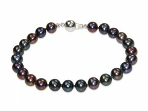 Lisa - Aubergine Black Pearl Bracelet-0