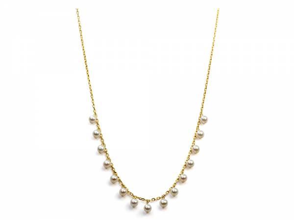 Iliana - Dangling White Pearl Necklace-0