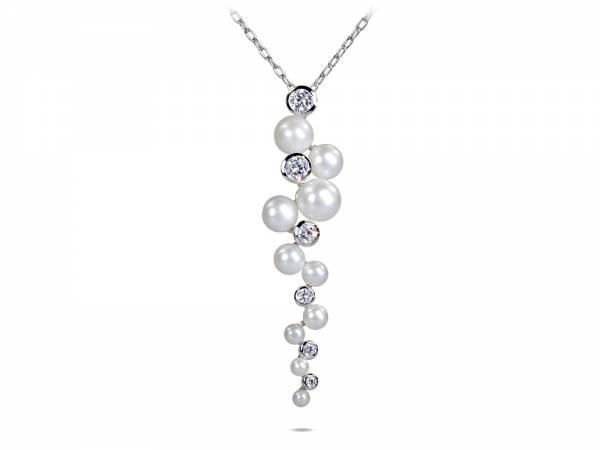 Uva - White Pearl Cascade Pendant-0