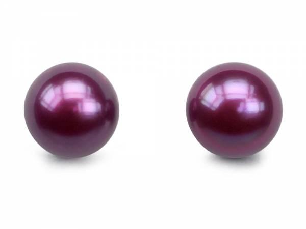 Mulberry Candy - Purple Pearl Stud Earrings