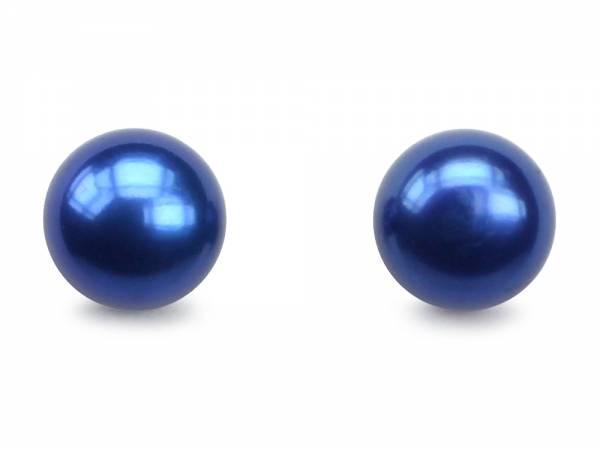 Blueberry Candy - Indigo Pearl Stud Earrings