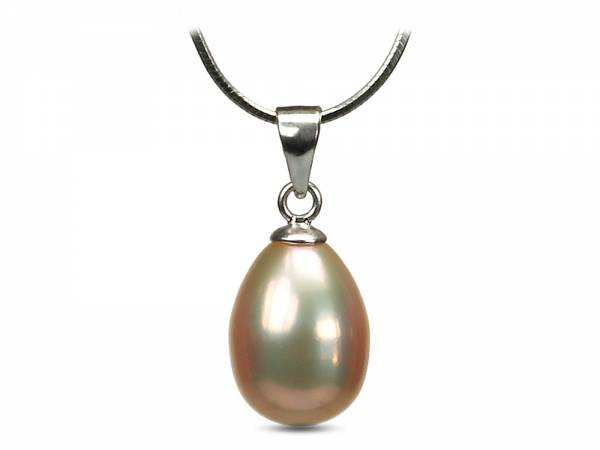 Liz - Metallic Golden Pearl Pendant-0