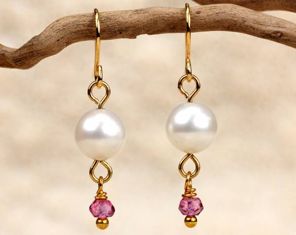 Alix in Pink - Rose Quartz & White Pearls-436