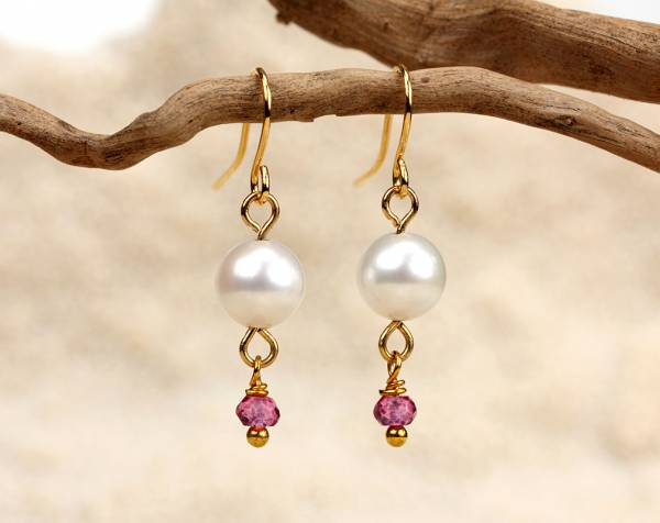 Alix in Pink - Rose Quartz & White Pearls-666