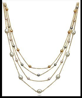 Iris - Pearls and Chains Station Necklace